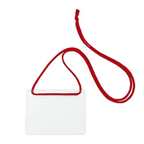 OP 簡易吊り下げ名札 名刺サイズ 10枚 赤
