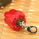 ベジタブル 食品サンプル ミニチュア マスコット アクセサリー (赤ピーマン)