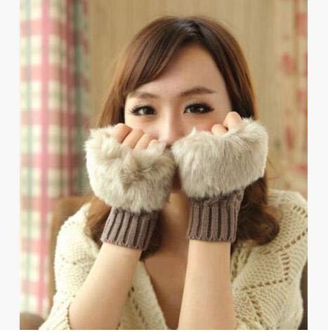 秋冬暖かいニット手袋防寒可愛い手袋レディース多色