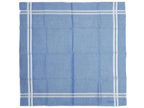 (エルメス) HERMES エルメス ハンカチ ソルド コットン100% HERMES PARIS ブルー/ホワイト H068500G03 [並行輸入品]