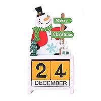 カレンダープランナー 2018-2019 クリスマス 雪だるま 鹿カレンダー アドベントカウントダウンカレンダー
