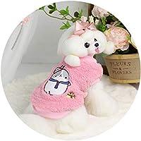 犬ヨークシャーマルタチワワ7DLP28のためのかわいいEmborideryペンギン雪の犬用のコートジャケットダウンパーカー冬服:ピンク、XL