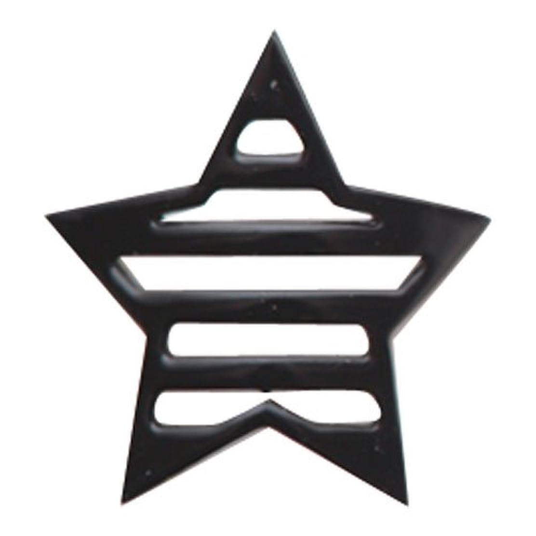 緊急メンタルなにリトルプリティー ネイルアートパーツ 星ボーダー L ブラック 10個