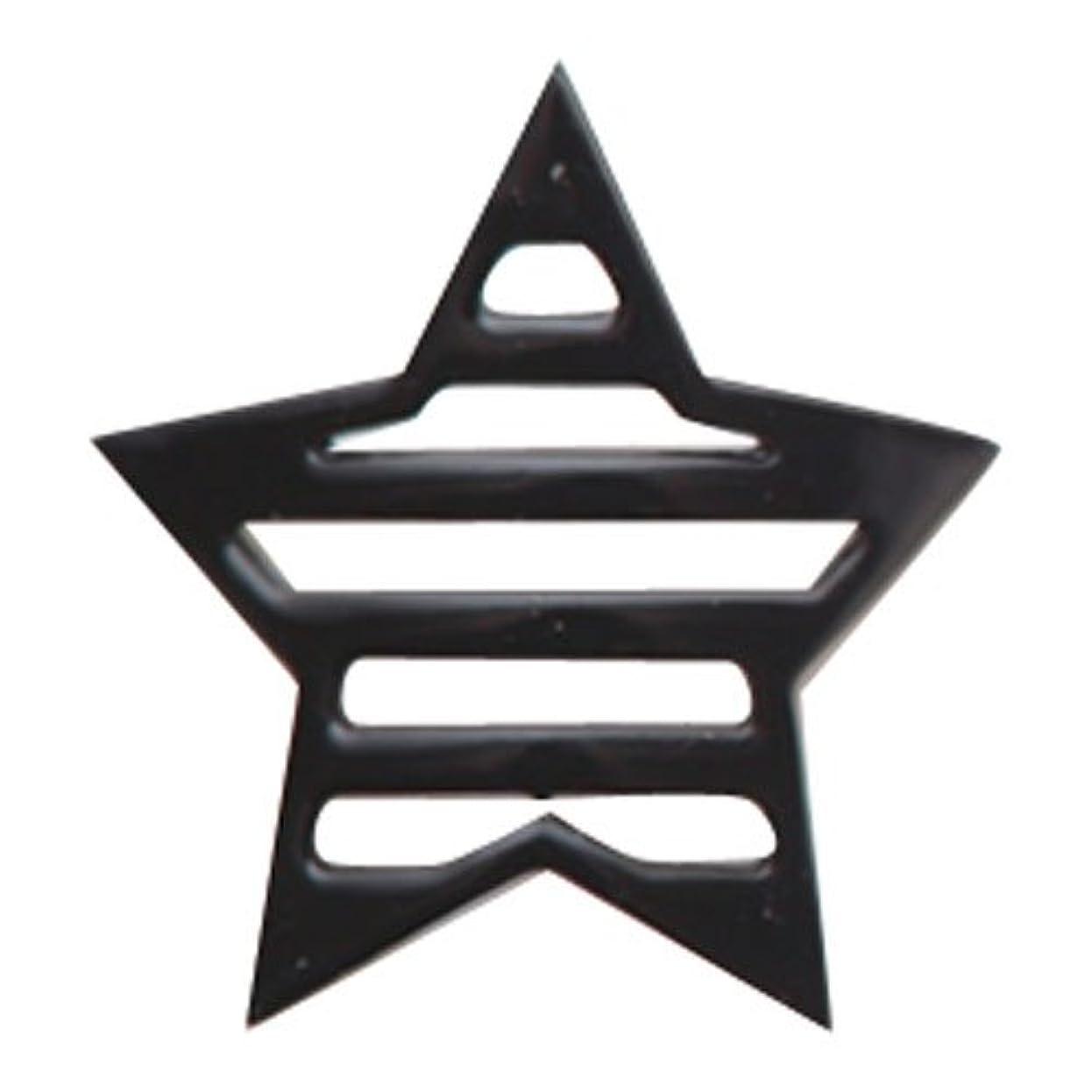 小学生収束する計算可能リトルプリティー ネイルアートパーツ 星ボーダー L ブラック 10個