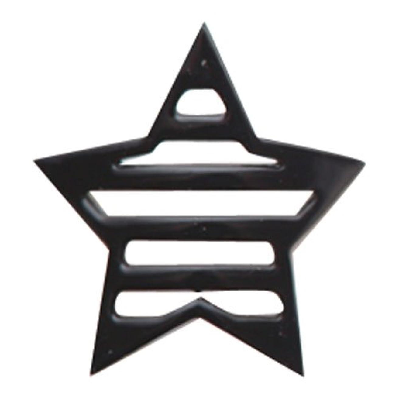 国値下げ始めるリトルプリティー ネイルアートパーツ 星ボーダー L ブラック 10個