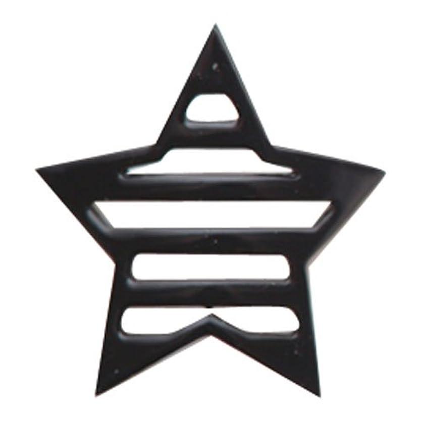 退院からに変化する気難しいリトルプリティー ネイルアートパーツ 星ボーダー L ブラック 10個