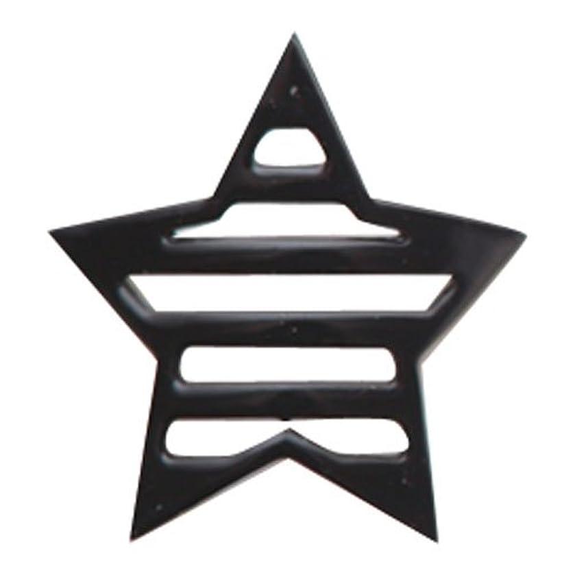 成長するすることになっているひどいリトルプリティー ネイルアートパーツ 星ボーダー L ブラック 10個
