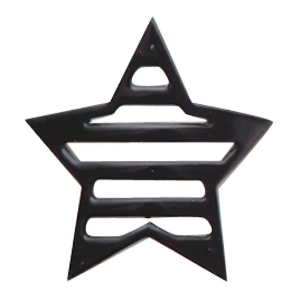 シーボード高層ビル考えるリトルプリティー ネイルアートパーツ 星ボーダー L ブラック 10個