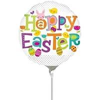 Anagram Happy Easter Dots Mini箔バルーンon Sticks ( 3パック)