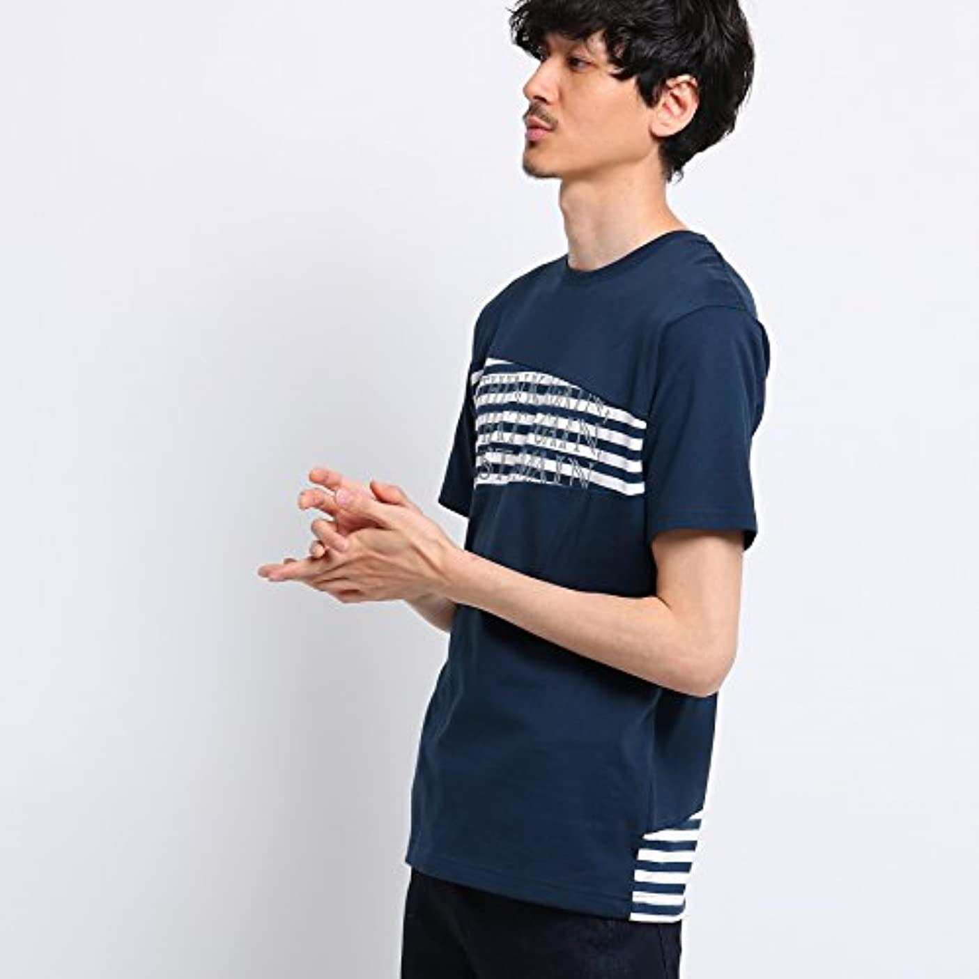 アナニバー切り下げ遅い(タケオキクチ) TAKEO KIKUCHI バイアス切替ボーダーTシャツ[ メンズ Tシャツ ボーダー ] 07024004