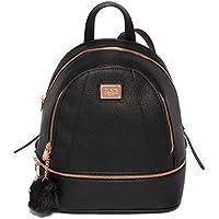 Colette Hayman - Bridget Black Medium Rose Gold Hardware Backpack