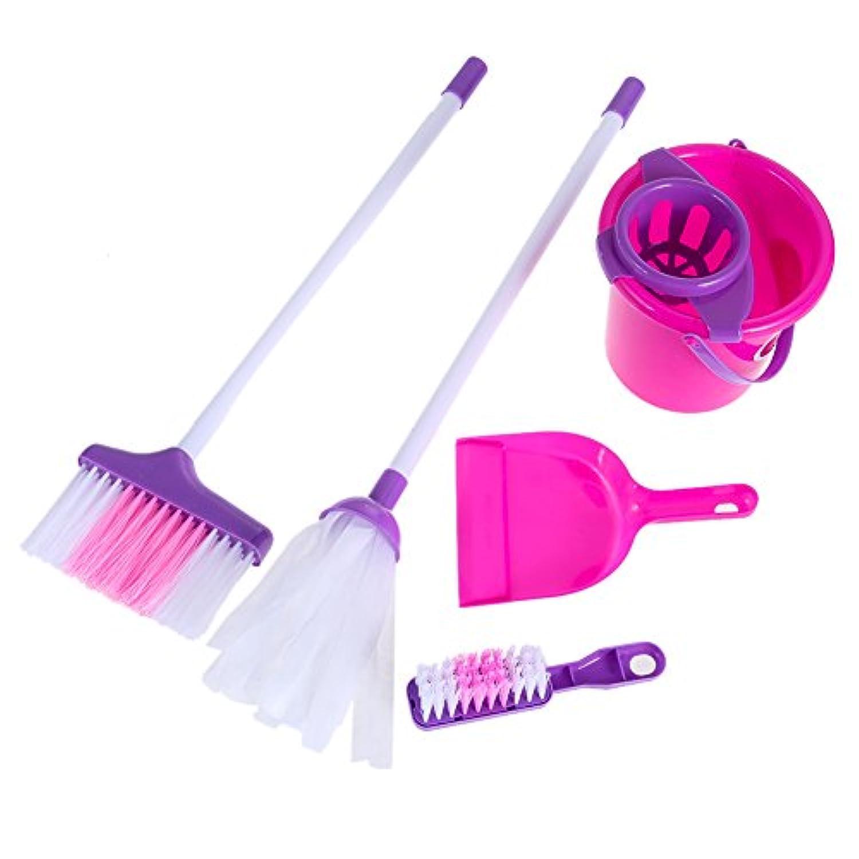 AmazingDeal 子供用 おままごと お掃除セット5点 ままごと 知育おもちゃ