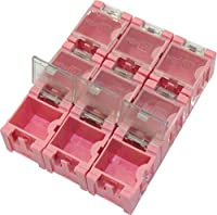 オーディオファン パーツケース 連結 ネジや電子部品など ピンク Sサイズ 9個セット
