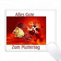 ハッピーマザーズデーのプリントは、ドイツのローズ PC Mouse Pad パソコン マウスパッド