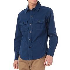 Indigo CPO Shirt 387-84018: Solid
