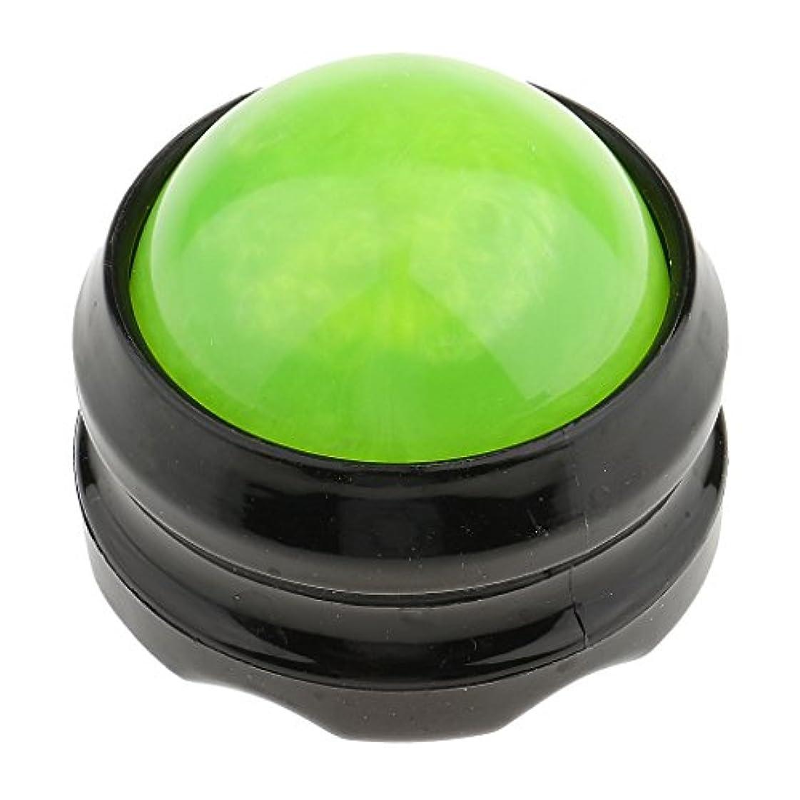 負荷照らす論争マッサージ ローラーボール ボディ バック ネック フット セルフマッサージ ツール グリーンブラック