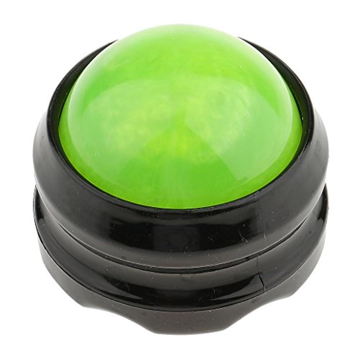 バレルデッキ私たちマッサージ ローラーボール ボディ バック ネック フット セルフマッサージ ツール グリーンブラック