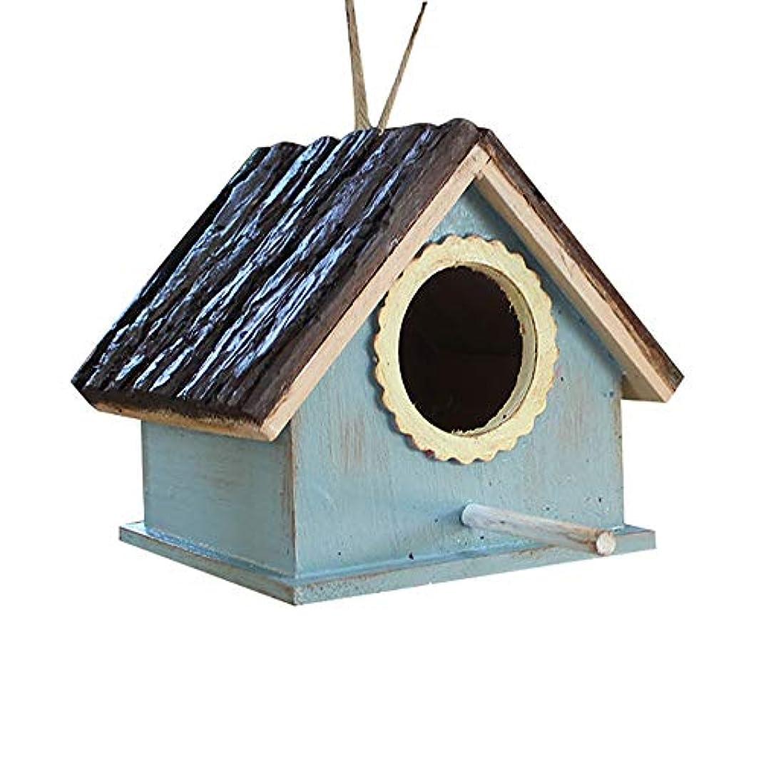 生む原稿低下鳥の巣箱 鳥の巣 巣箱 2 PCSバードハウス木製ハンギング立ち巣箱鳥の食品収納ボックスフィーダーV字型の屋根鳥の巣ホテルキャビン屋外庭庭の装飾 庭園の装飾 屋外屋内 バードルーム (Color : A, Size : Free size)