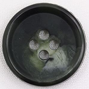 Horn Finished Plastic Button(水牛調プラスチックボタン) BF1800-67 1個入 13mm 67緑系