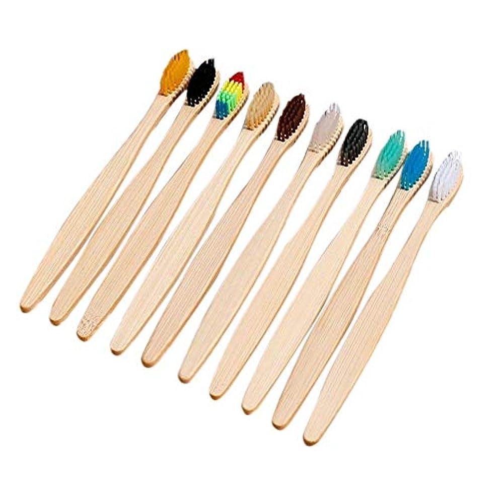 乳白松チップbulorrow 竹の歯ブラシ環境に優しい柔らかい毛口腔看護のための大人用歯ブラシ虹色の天然有機歯ブラシ100%生分解性