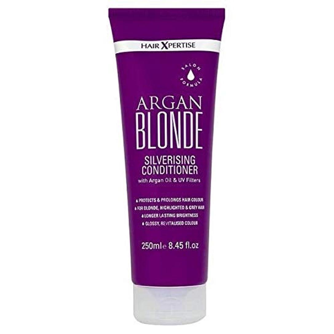 建設ループ恥ずかしい[Hair Xpertise] ヘアXpertiseのアルガンブロンドSilverisingコンディショナー250ミリリットル - Hair Xpertise Argan Blonde Silverising Conditioner...