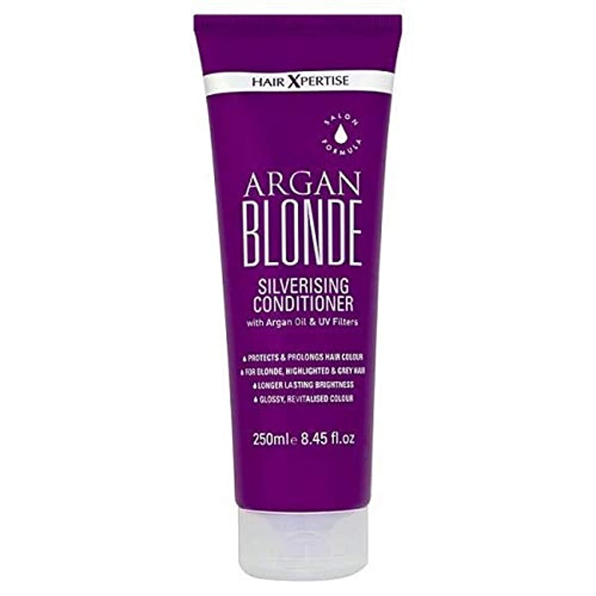 不十分仮定するアリーナ[Hair Xpertise] ヘアXpertiseのアルガンブロンドSilverisingコンディショナー250ミリリットル - Hair Xpertise Argan Blonde Silverising Conditioner...
