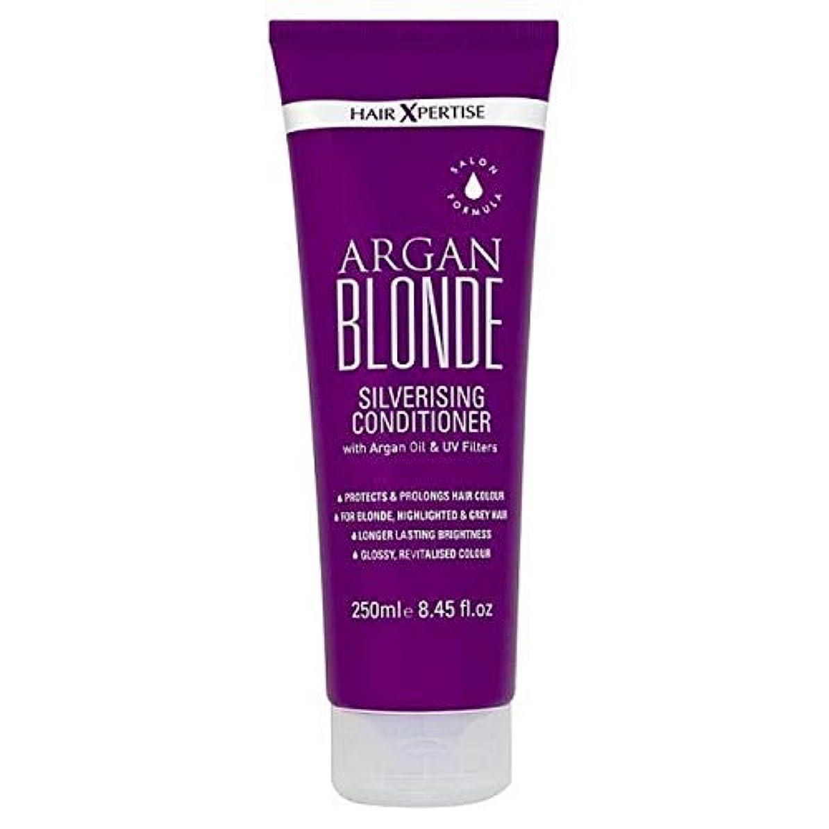 コークス残りドキドキ[Hair Xpertise] ヘアXpertiseのアルガンブロンドSilverisingコンディショナー250ミリリットル - Hair Xpertise Argan Blonde Silverising Conditioner...