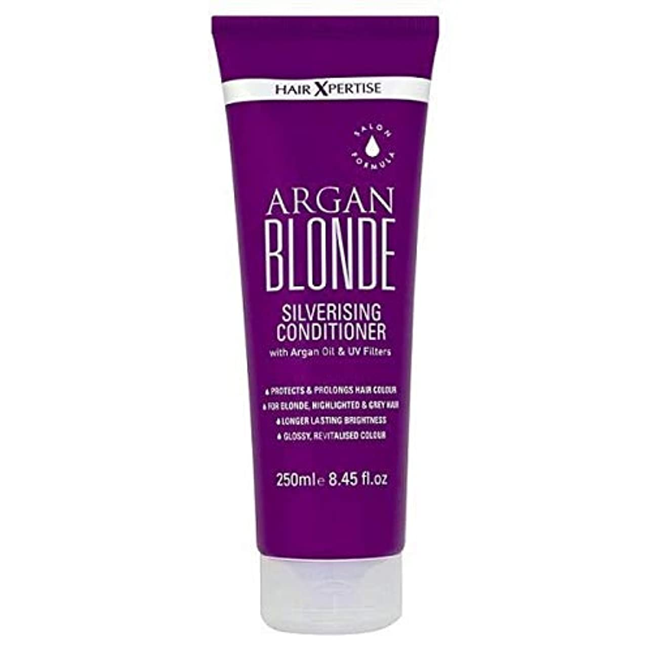 大腿スリラー反対に[Hair Xpertise] ヘアXpertiseのアルガンブロンドSilverisingコンディショナー250ミリリットル - Hair Xpertise Argan Blonde Silverising Conditioner...