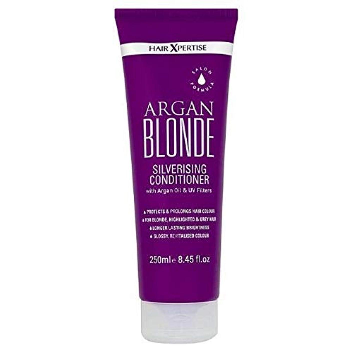 歩き回る限定先見の明[Hair Xpertise] ヘアXpertiseのアルガンブロンドSilverisingコンディショナー250ミリリットル - Hair Xpertise Argan Blonde Silverising Conditioner...