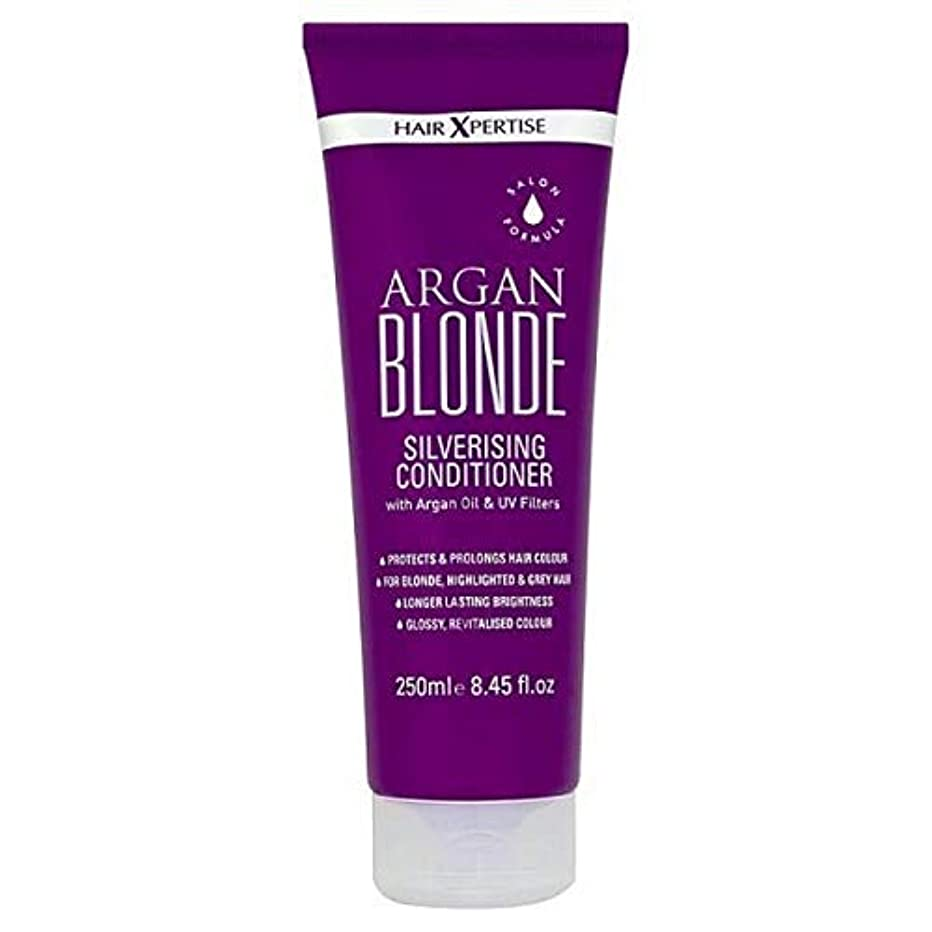 事業内容腐敗神経障害[Hair Xpertise] ヘアXpertiseのアルガンブロンドSilverisingコンディショナー250ミリリットル - Hair Xpertise Argan Blonde Silverising Conditioner...