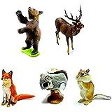 カプセルQミュージアム 日本の動物コレクション6 北海道/蝦夷地の哺乳類 5種