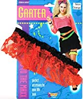 Bristol Novelty 80s Neon Lace Garter. Orange Costume Accessories - Women's - One Size