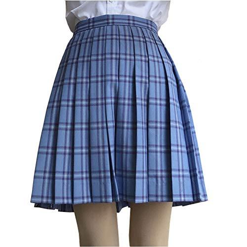 7f873e58f49 UNIYA(ウニヤ) チェック柄 プリーツスカート スクール 女子高生 スカート 制服 セーラー服 コスプレ 衣装