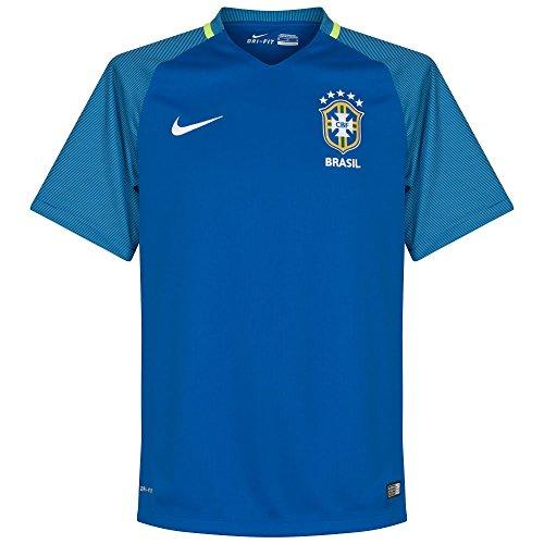 ナイキ(NIKE) ブラジル代表 DRI-FIT S/S アウェイ スタジアム ジャージ 724593 493 バーシティロイヤル/Fブルー M