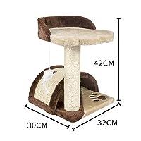 シラス猫の木のスクラッチ斜面、猫クライミング活動玩具(Tan)