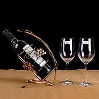 ワインラック - 創造的なワインラックの装飾鉄人格のボトルラックワインラック,A