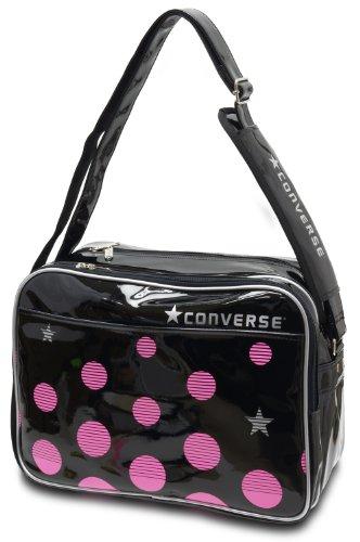 CONVERSE コンバース エナメル ショルダーバッグ Mサイズ C1300053 (1961ブラック/ピンク)
