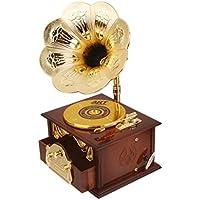 KOZEEYレトロ 蓄音機 デザイン メカニカル ディスク オルゴール ジュエリー ボックス ギフト 装飾