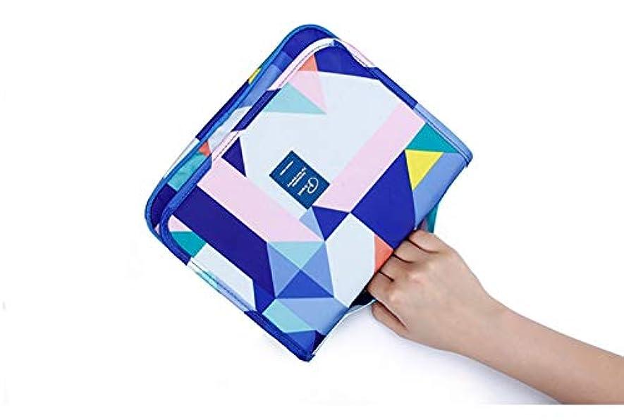 拍手アンカー調和のとれたJiabei 化粧品収納袋、男性女性と子供(図形)のための化粧品化粧品シェービングとパーソナルケアをハンギング複数のポケットと高品質のジッパー (色 : Photo Color)