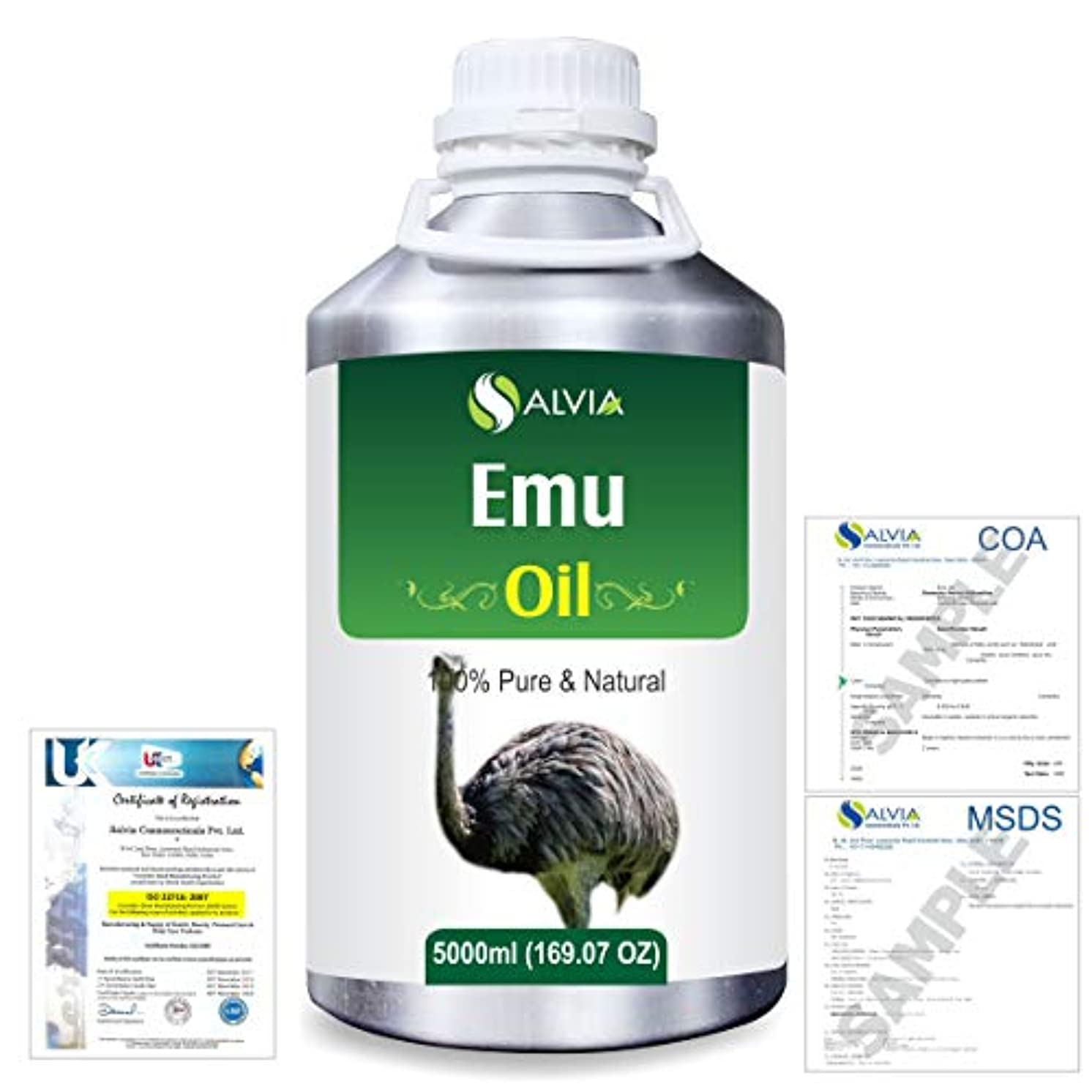 職業賞復活させるEmu 100% Natural Pure Oil 5000ml/169fl.oz.