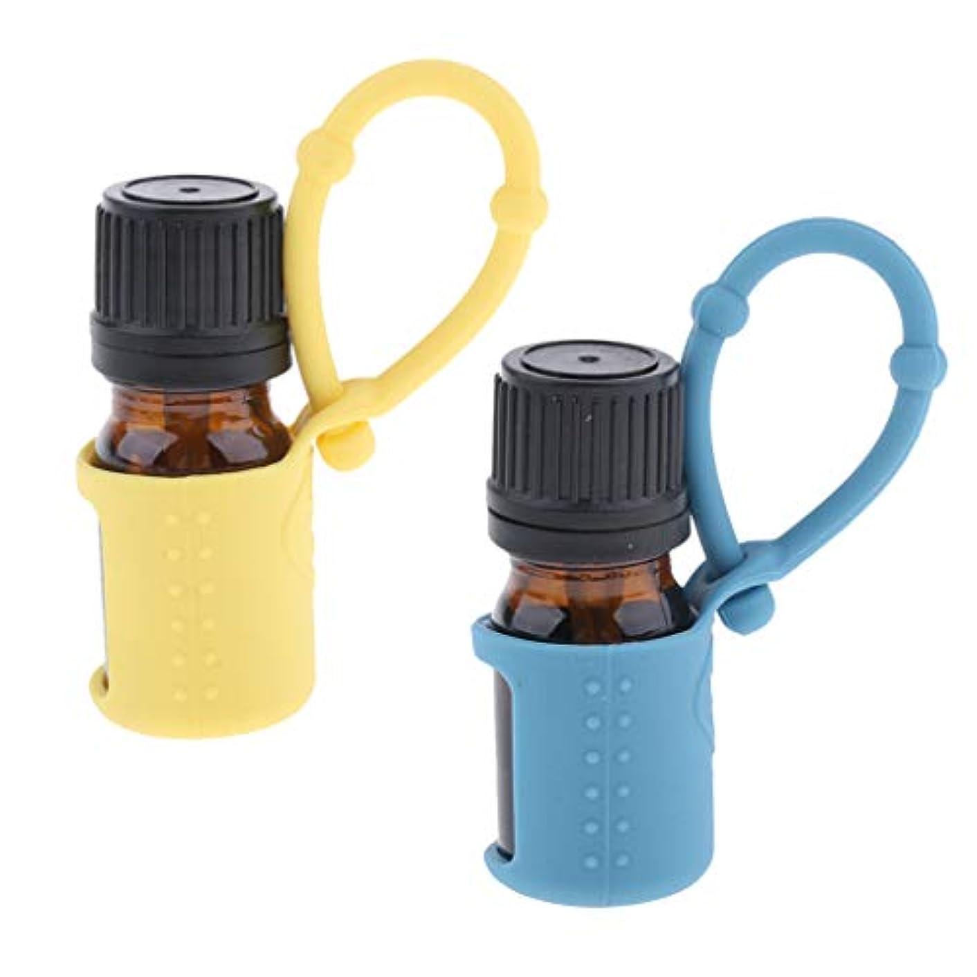 入り口踏み台公平2個 詰替ボトル エッセンシャルボトル 5ml 空容器 精油 液体 保存用 旅行 シリコンスリーブ付