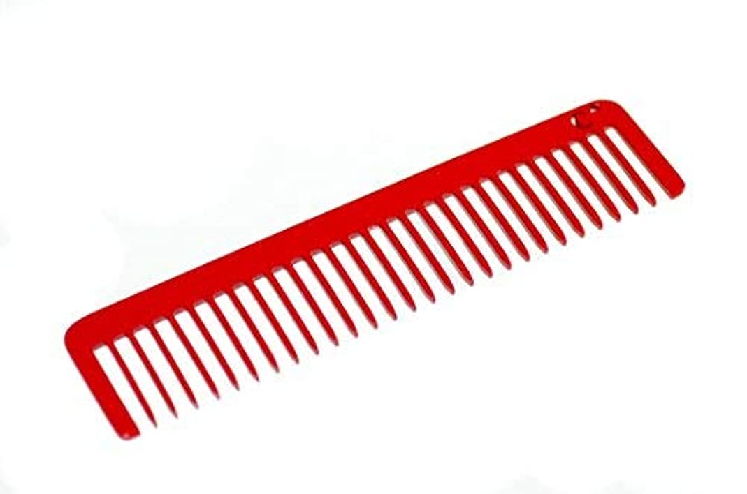 Chicago Comb Long Model No. 5 Cardinal Red, 5.5 inches (14 cm) long, Made in USA, wide-tooth comb, ultra smooth...