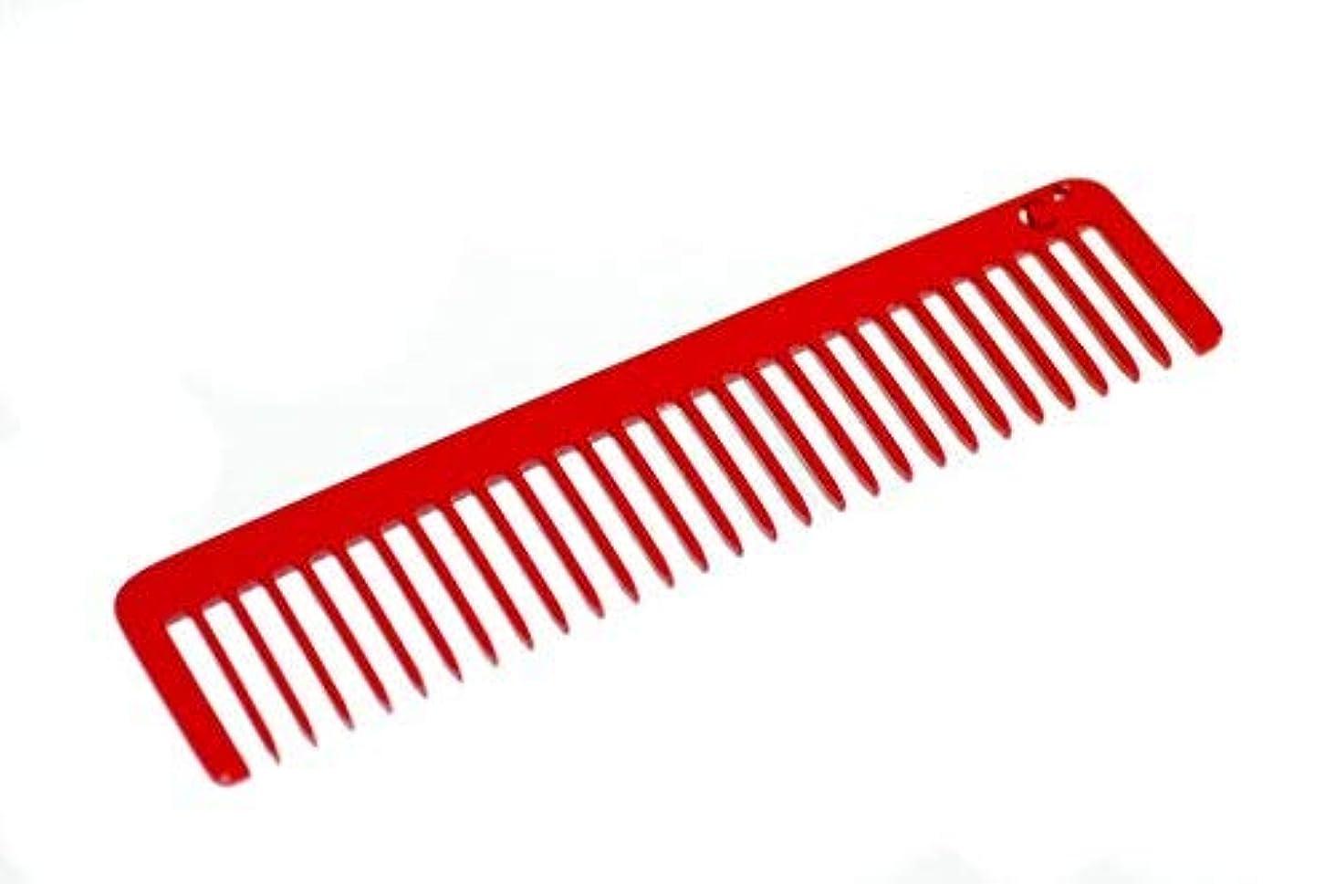 理由戦術足Chicago Comb Long Model No. 5 Cardinal Red, 5.5 inches (14 cm) long, Made in USA, wide-tooth comb, ultra smooth...