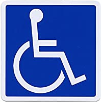 SSC 車椅子 マグネットステッカー 身障者用設備  右向き 110×110mm qb600029a02n0