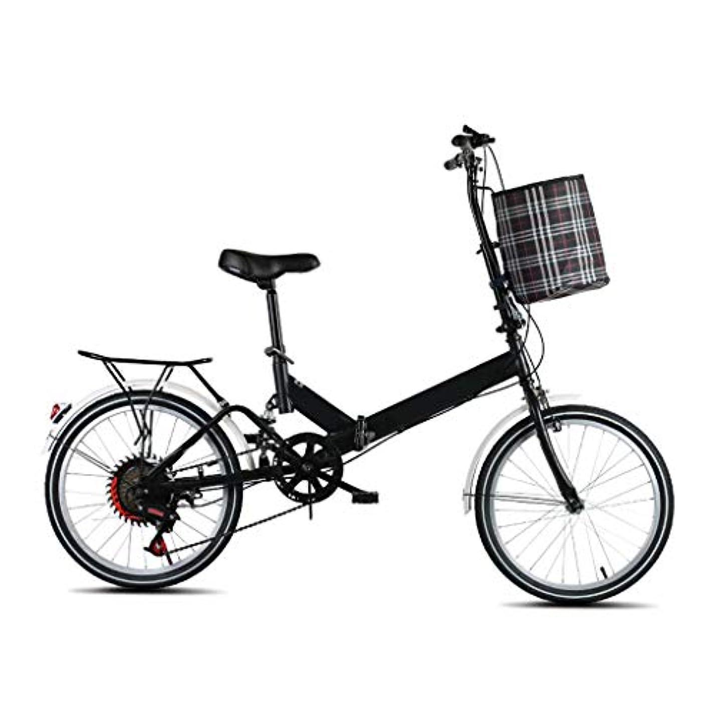 キルスブルーベル汚い20インチ軽量折りたたみ自転車、大人、10代、女性と女の子向けのシティ自転車スクーター、可変速度と衝撃吸収、布フレーム付き