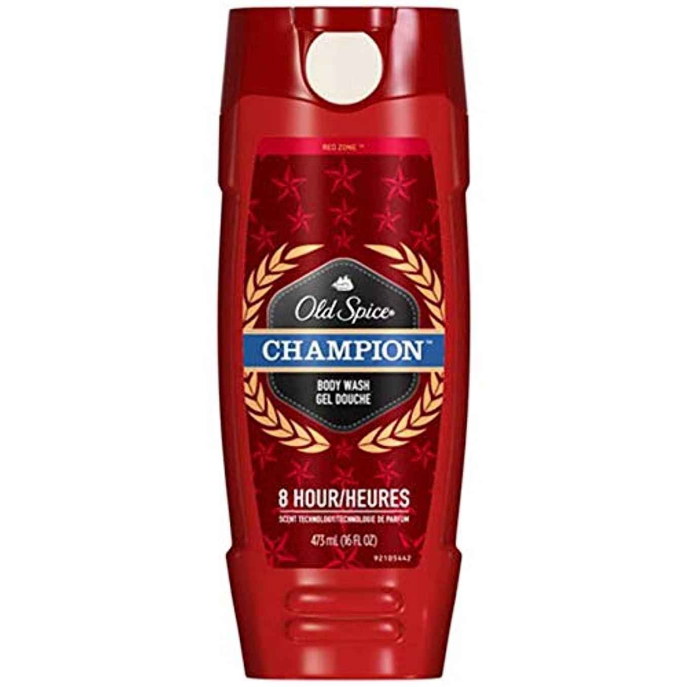 チーフ臭いインスタントOld Spice オールドスパイス ボディーウォッシュジェル Red Zone Body Wash GEL 473ml 並行輸入品 (CHAMPION/チャンピオン) [並行輸入品]
