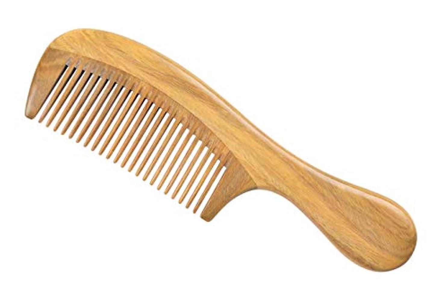 海システム子猫LWBTOSEE 櫛 ウッドコーム ファインティース ウッドコーム グリーンサンダルウッド アンチスタティック 女性 男性 女の子 ヘアコーム 太くて 波打ち 波打つ髪