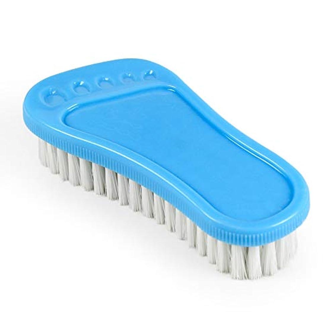 トラフィック申請中邪魔するポアクリーニング 小さな足首プラスチックの柔らかい髪多目的靴のブラシ洗面器のブラシのクリーニングブラシバスのブラシ2 PCS マッサージブラシ