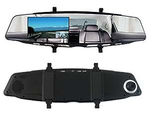 ITPROTECH IPT-DRFHD300DUALBM DUALカメラ搭載!ドライブレコーダー/バックミラーと一体型で視界の妨げにならない