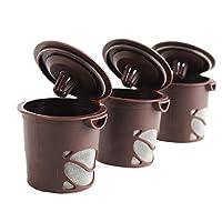 Dealglad ® 3pcs /設定Cleverコーヒーティーカプセル再利用可能な1つk-cupコーヒーフィルタメッシュCup for Keurig